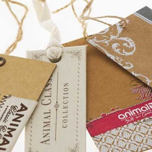SWING TAGS Swing tags combine all of Clarions printing processes. Substrates are screen, litho or digitally printed and then die cut to shape and strung as desired.