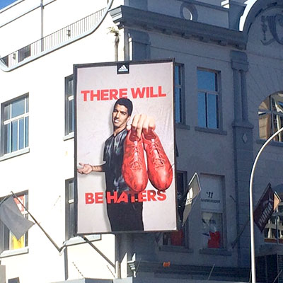 Adidas There Will Be Haters Billboard