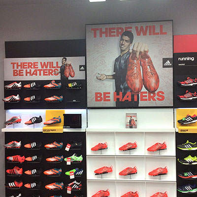 Wall branding for the Adidas campaign