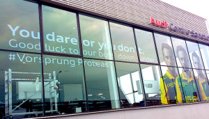 Clarion Retail brands Audi showrooms nationally