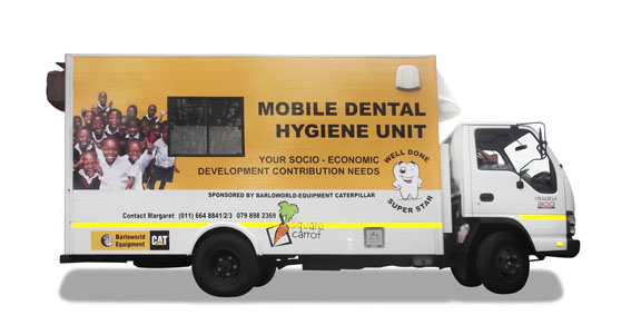 Mobile Dental Hygiene Unit Branding The Clarion Group