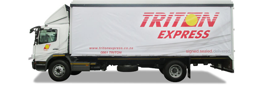 Triton Express Truck Branding The Clarion Group