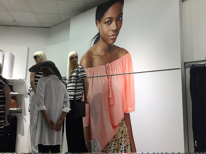 Clarion Retail recently printed and installed the national wallpaper focal roll-out for Woolworths