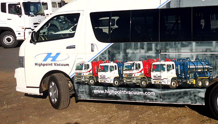 Highpoint Vacuum vehicle branding campaign