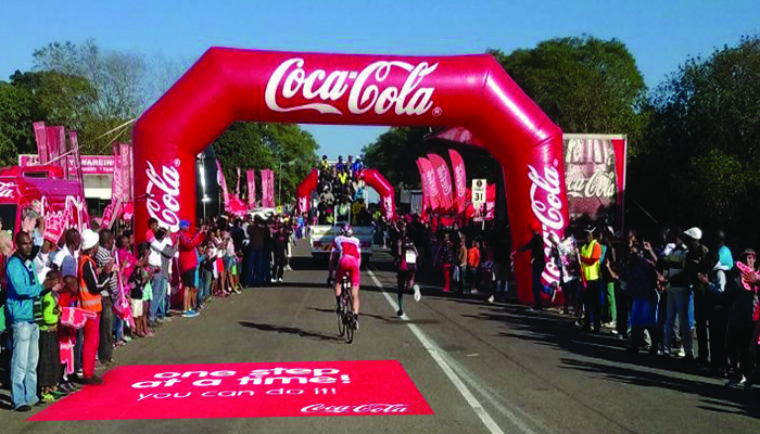 Clarion brands Coca Cola Water Points at the Comrades Marathon