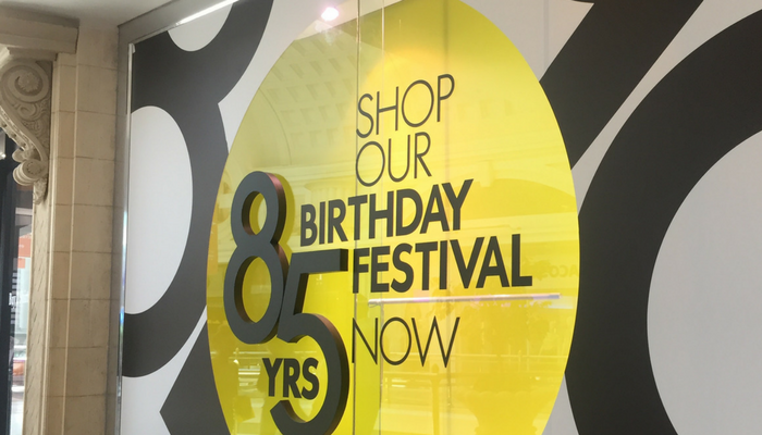 Woolworths 85th Birthday – Retail Window Branding